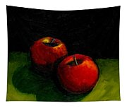 Two Red Apples Still Life Tapestry