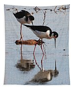 Two Stilts Walk The Pond Tapestry