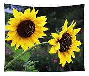 Two Sunflowers Tapestry