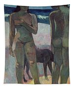Two Tahitian Women On The Beach Tapestry