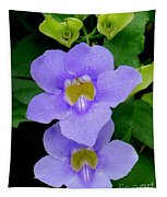 Two Thunbergia With Dew Drops Tapestry