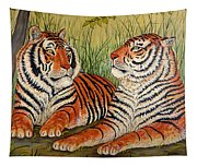 Two Tigers Tapestry