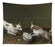 Two Toy Spaniels At A Sugar Bowl Tapestry