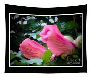 Two Unopen Pink Hibiscus Flowers Tapestry
