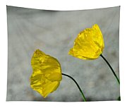 Two Yellow Blossoms Tapestry