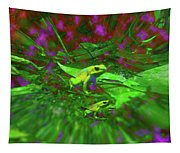 Two Yellow Frogs Tapestry