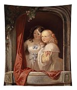 Two Young Ladies At The Window Tapestry