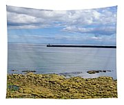 Tynemouth Piers And Lighthouses Panorama Tapestry