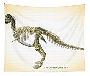 Tyrannosaurus Rex Skeleton Tapestry