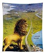 Uganda Railway - British East Africa - Retro Travel Poster - Vintage Poster Tapestry