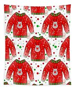 Ugly Christmas Sweater Pattern Tapestry