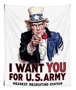Uncle Sam -- I Want You Tapestry by War Is Hell Store