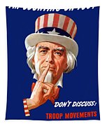 Uncle Sam - I'm Counting On You Tapestry by War Is Hell Store