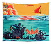 Bright Coral Reef Tapestry