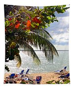 Under The Palms In Puerto Rico Tapestry