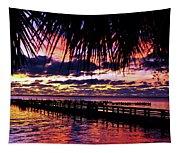 Under The Palms Sunrise Tapestry