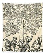 Under The Village Linden Tree Tapestry