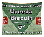 Uneeda Biscuit Vintage Sign Tapestry