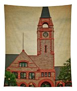 Union Pacific Railroad Depot Cheyenne Wyoming 01 Textured Tapestry
