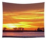 Union Reservoir Sunrise Feb 17 2011 Canvas Print Tapestry