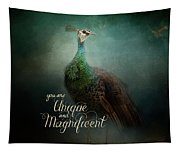 Unique And Magnificent - Peacock Art Tapestry