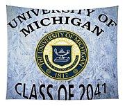 University Of Michigan Class Of 2041 Tapestry
