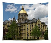 University Of Notre Dame Main Building 1879 Tapestry