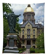 University Of Notre Dame Main Building Tapestry