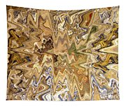Unknown Paths Abstract Art Tapestry