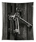 Unlocked - Keys And Opened Door Tapestry