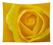 Up Close Yellow Rose Tapestry