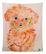 Upright Puppy Tapestry