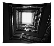 Upstairs- Black And White Photography By Linda Woods Tapestry