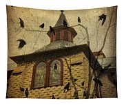 Urban Crows Tapestry