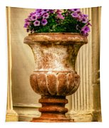 Urn With Purple Flowers Tapestry