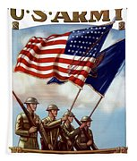 Us Army -- Guardian Of The Colors Tapestry