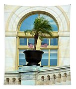 Us Capital Building Window Tapestry