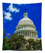Us Capitol Dome Tapestry