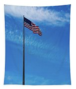 Us Flag At Liberty Island Tapestry