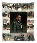 Us Grant's Career In Pictures Tapestry