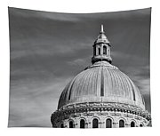 U.s. Naval Academy Chapel Dome Bw Tapestry