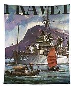 U.s. Navy Travel Poster Tapestry