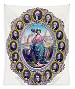 Us Presidents And Lady Liberty  Tapestry