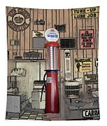 Us Route 66 Smaterjax Dwight Il Gas Pump 01 Pa 02 Tapestry