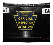 Us Route 66 Smaterjax Dwight Il Official Inspection Signage Tapestry