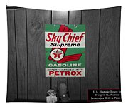 Us Route 66 Smaterjax Dwight Il Sky Chief Supreme Signage Tapestry