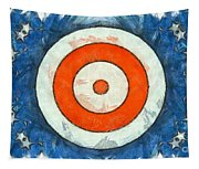 Usa Flag Abstract Tapestry