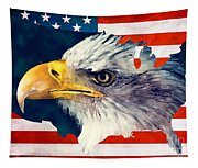 Usa Flag Eagle Tapestry