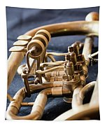 Used Old Trumpet, Closeup Tapestry