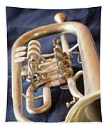 Used Old Trumpet. Vertically. Tapestry